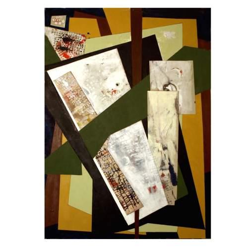 """Rinaldi Angelo """" AR 1 """", acrilico su cartone , cm.72,5x101, firmato e datato 2011"""