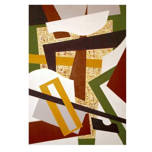 """Rinaldi Angelo,""""astratto AR2"""",acrilico su cartoncino,cm.103 x72,anno 2010"""