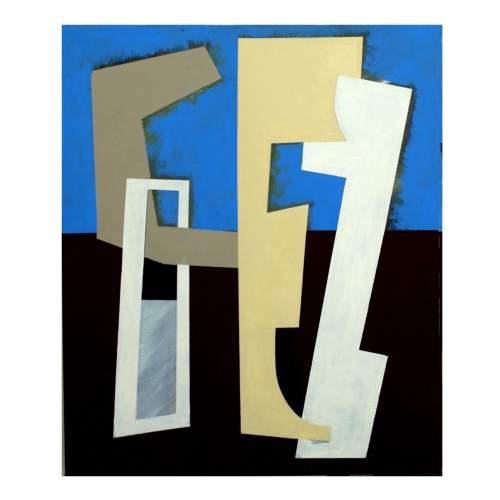 "Rinaldi Angelo,""AR.12"",acrilico su tela,cm.60x50,anno 2012"