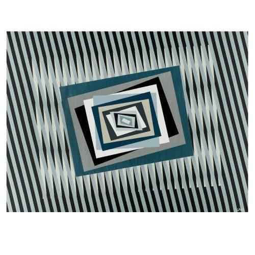 """FERRUCCIO GARD """" Effetto colore '15"""", acrylic colours on canvas, cm.95x115x4,5, firmato e datato 2015"""
