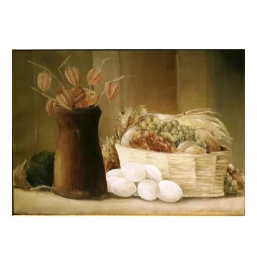 "Rainaldi Oliviero,""natura morta,olio su tela,cm.50x70"