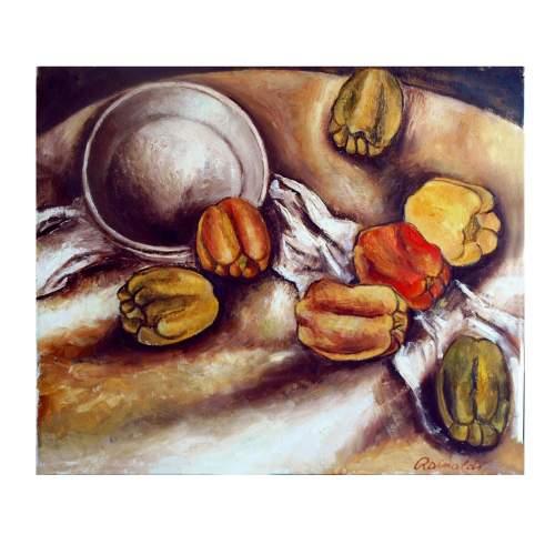 "Rainaldi Oliviero,""natura morta"",olio su tela"