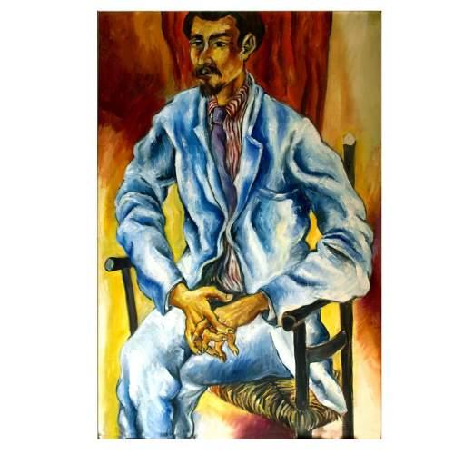 Rainaldi Oliviero,Ritratto, olio su tela, cm. 60x90