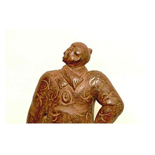 "Boni Toni (Padova 1907-1980)""Ea Gaetana"", scultura, bronzo patinato, cm.40,2x21,1940"