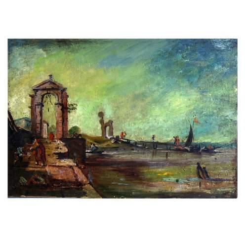 Zago Giorgio, Piazza san Marco, acquarello su carta, cm. 35 x 50