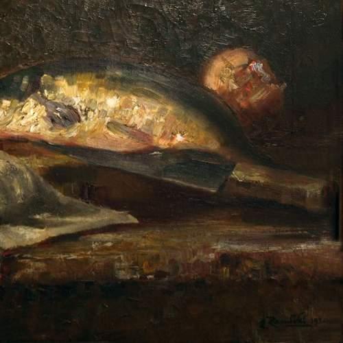 """Particolare, EVARISTO ZAMBELLI """" Natura morta """", olio su tela, h.cm.40x30, firmato, cornice originale"""