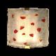 I TRE, due appliques, in vetro massello con macchie di colore rubino sulla  superficie irregolare, h.cm.25,esemplare