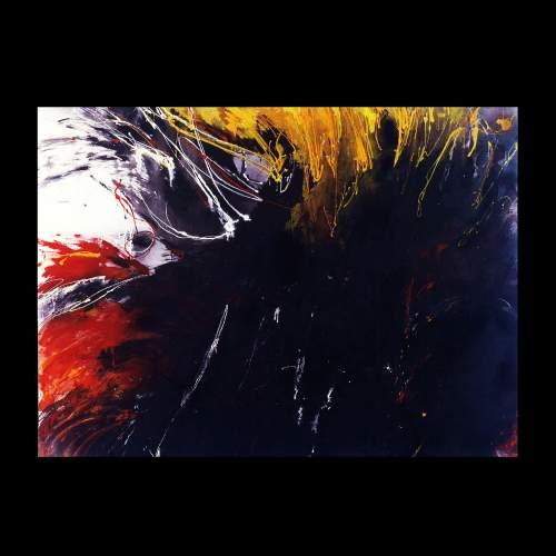 """Elena Cappello """" il paradiso perduto - 1 """", tecnica mista, h.cm.150x200, anno 1986"""