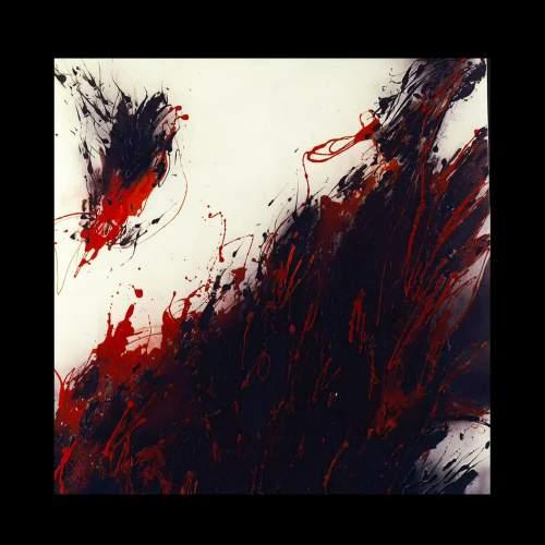 """Elena Cappello """" principio di tumulto universale """", tecnica mista, h.cm.145x145, anno 1986 """""""