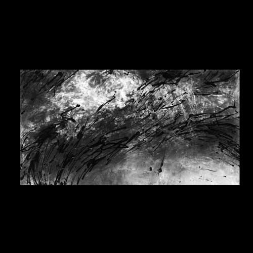 """Elena Cappello """" tenera è la notte  """", tecnica mista su tela, h.cm.70x130, anno 1987"""