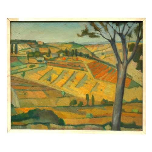 """Stradella Luigi """" Paesaggio Romagnolo"""", olio su tavola, cm. 29 x 43,5, firmato datato 1965, con cornice."""