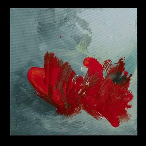 """Carla Rigato """" Come papaveri nel vento - 1 """", acrilico su tela, cm.80x80,firmato e datato 2018"""