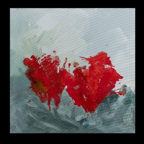 """Carla Rigato, """"Come papaveri nel vento 3 """" acrilico su tela, cm.80x80, firmato e datato 2018"""