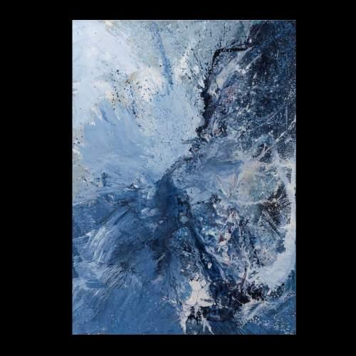 """Carla Rigato """" Come un'acqua feroce che si morde e suona Neruda """",cm.140x100, firmato e datato 2018"""