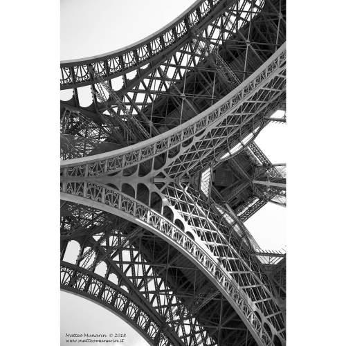 "MATTEO MUNARIN ""Eiffel Under"", fotoquadro 70x40, tela canvas"