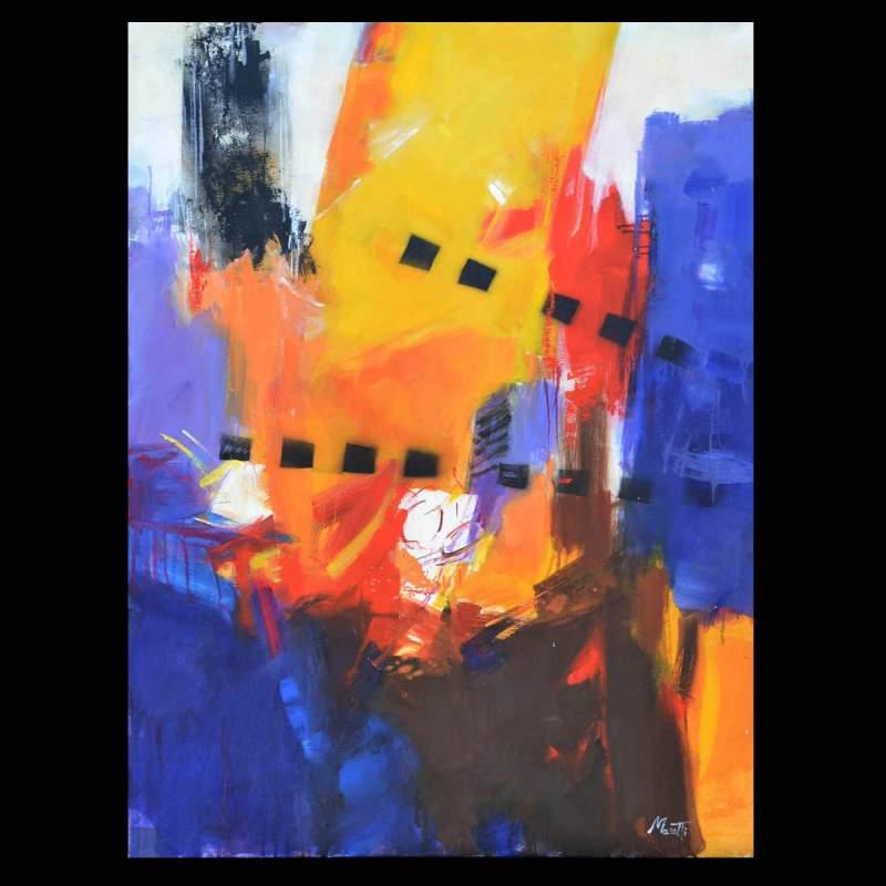 Luigi Marotti, 2  the colors of the city, tecnica olio su tela, cm.70x100, anno 2017