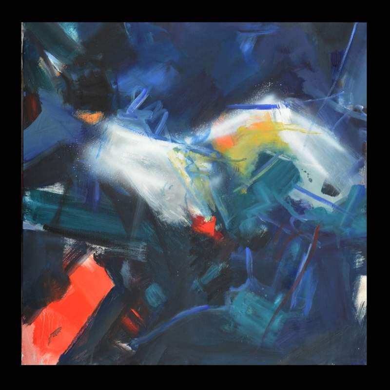 Luigi Marotti, 3 Astratto approdi, olio su tela, cm.60x60, anno 2016,