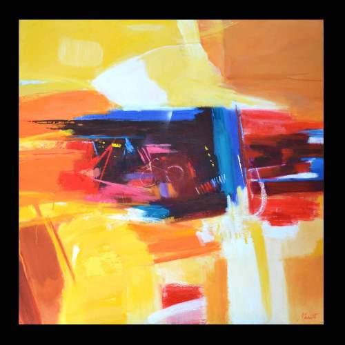  Luigi Marotti, 5 Viaggio 2, olio su tela, cm.100x100, anno 2013