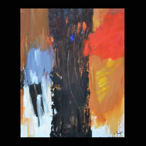 Luigi Marotti, 6 Filamenti, olio su tela, cm.100x80, anno 2014
