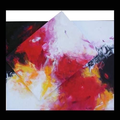 Antonietta Reschiglian, lightning of love, tecnica mista su tela, cm. anno 2010