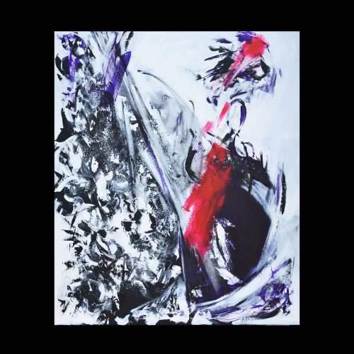 Antonietta Reschilian, ma forse tu mi parli, tecnica mista su tela, cm.80x100, anno 2017