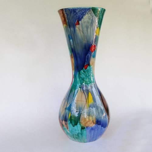Ceramiche Italia - Albisola, Vaso a bulbo, smalti lucidi, cm. 41,5x18, marchio, anni 1950