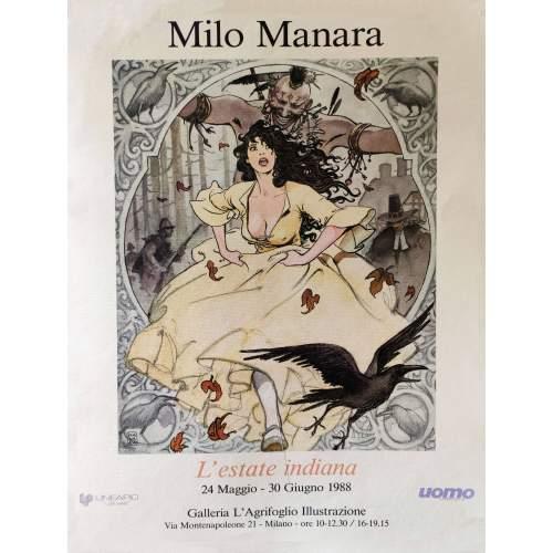 Manara   Milo | Manifesto di una sua personale | h.cm. 70x49,5