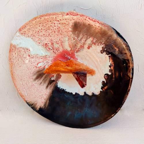 Guido Dragani | Armonia | scultura in ceramica  | centrotavola  | rilievi a forma di triangoli |h.cm. 14x36x34 | anno 1974