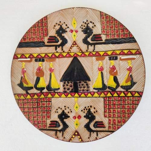 Ciriaco Piras | piatto in ceramicacm. 29 x 2,5 |marchio Piras e figli Dorgali | anni 1969