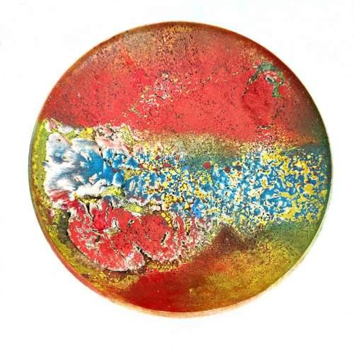 CARLO ZAULI,  sfera dorata con impronta, diametro cm.17