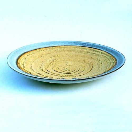 CARLO ZAULI, cubo schiacciato, scultura in ceramica dorata, h.cm.15x17