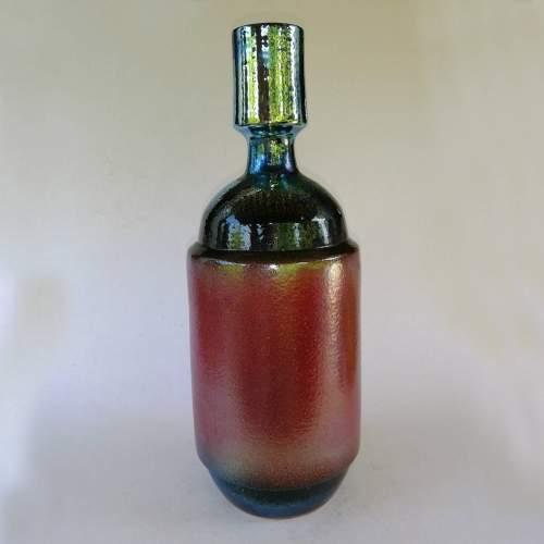 Carlo Zauli |  Santandrea  | Vaso in terracotta a smalti bicolori iridati |  h.cm. 42,5 x14 |  Santandrea Faenza |anni 1959