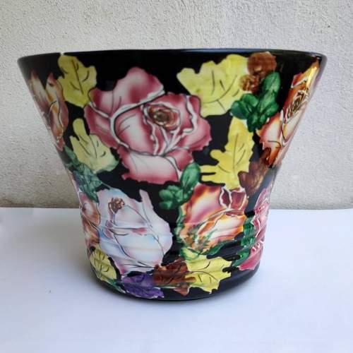 Giuseppe Zanetti Treviso | vaso conico | decoro a fiori | h.cm. 20x26 |anni 1910/20