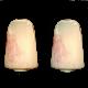Leucos |  Babucco | lampada da tavolo,in vetro soffiato con murrine rosa | h. cm. 30,5x21
