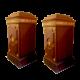 coppia di colonne mobile impero   in radica di noce ed elementi decorativi in legno dorato