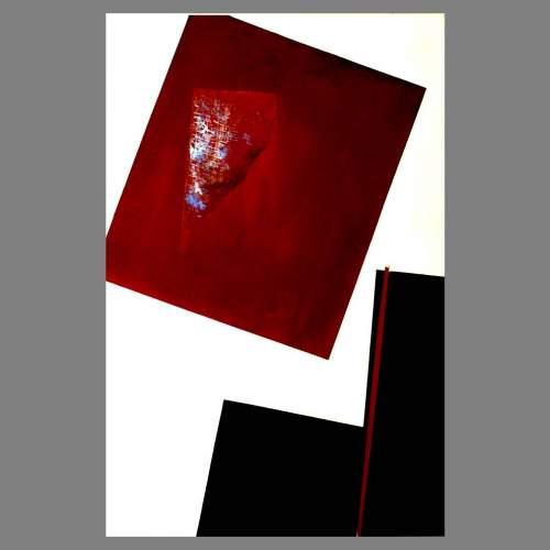 """Angelo Rinaldi,  """"Astratto AR 1"""",  acrilico su faesite, h.cm. 118x77,  anno 2013"""