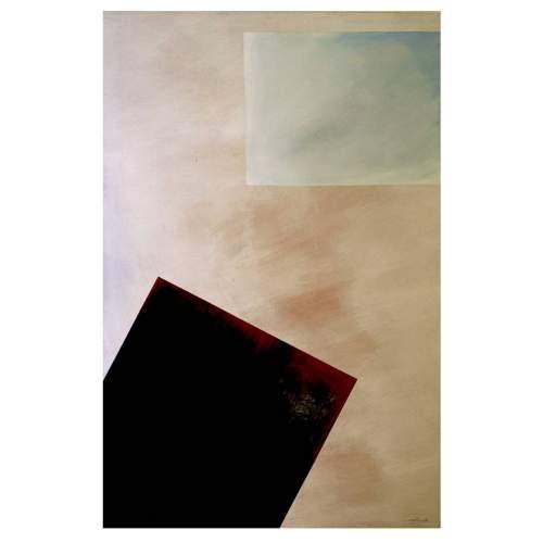 """Angelo Rinaldi, """"Astratto AR 3"""", acrilico su faesite, h. cm. 118x77, anno 2013"""