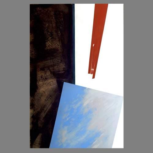 """Angelo Rinaldi, """"Astratto AR 4"""", acrilico su faesite h. cm. 118x77, anno 2013"""
