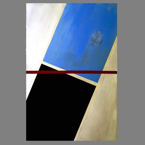 """Angelo Rinaldi, """"Astratto AR 5"""", acrilico su faesite, h.cm. 118x77, anno 2013, cat. cop. Rossa"""