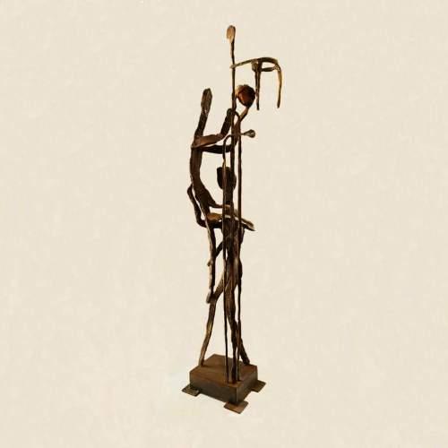 "Gianfranco Romagna| "" Velox"", in ferro battuto,h cm.109x26x16| anno 1970"
