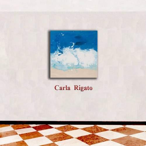"""Carla Rigato """"Busto1"""" acrilico su tela, h.cm. 50x50, anno 2019, opera firmata"""