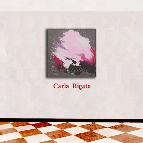 """Carla Rigato """"Giochi di luce"""" acrilico su tela, h.cm. 50x50, anno 2017"""