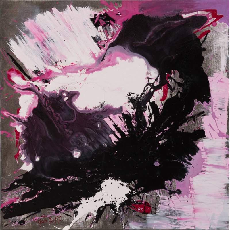 """Carla Rigato """"Giochi di luce 3"""" acrilico su tela, h.cm. 50x50, anno 2017"""