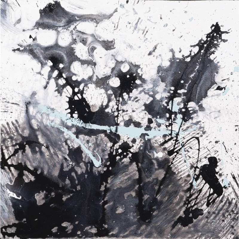 """Carla Rigato """"Momento veloce"""" acrilico su tela, h.cm. 50x50, anno 2019"""