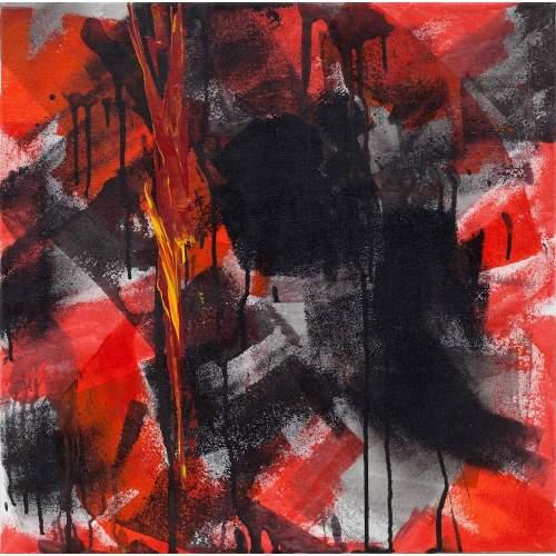 """Carla Rigato """"Riflessi dell'Anima 10"""" acrilico su tela, h.cm. 50x50, anno 2011"""