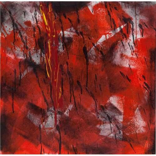 """Carla Rigato """"Riflessi dell'Anima 11"""" acrilico su tela, h.cm. 50x50, anno 2011"""