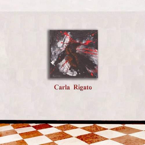 """Carla Rigato,"""" Varco"""",  acrilico e smalto su tela,  h.cm. 40x40, anno 2016"""