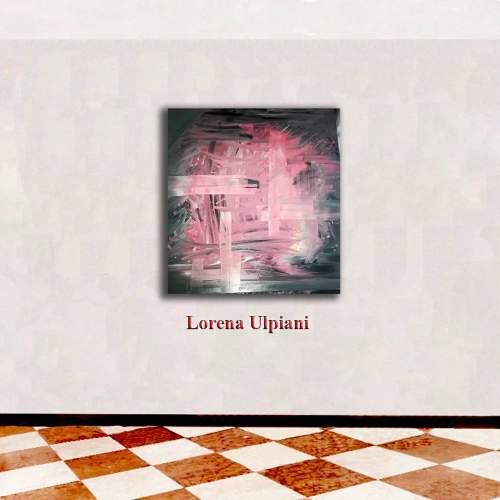 """Lorena Ulpiani , """"Sulla soglia - Ascoltando la vita"""", olio su tela, h.cm.100x100x 2,5,  2019"""