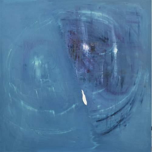 """Lorena Ulpiani , """"Timidezze d'amore/Diario di una stella"""", olio su tela, h.cm.100 x 100 x 2,5,  2020"""