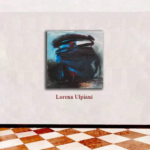"""Lorena Ulpiani , Valzer, dentro l'azzurro"""", olio su tela, h.cm.100 x 100 x 3,  2020"""